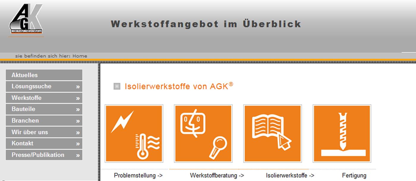 Homepage AGK Hochleistungswerkstoffe GmbH